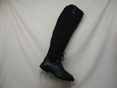 f531d9d8ed074 BLACK LEATHER Tuffrider Ladies Belmont Back Zip Field Boot New In ...