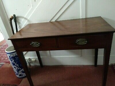 Mahogany two drawer side table hall table