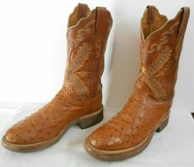 6746fd8012e 6.5 B LUCCHESE 2000 Lt Green & Blue Full Quill Ostrich Crepe Sole ...
