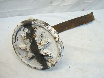 Architectural Iron Star Plate Seven Point Anchor Salvage Primitive Building Tie