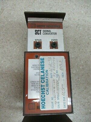 Moore Industries Signal Converter 0-10 Vdc 4-20Ma-In # 87122M Used