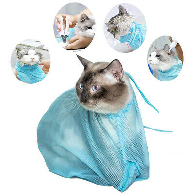 Bathing Bag Mesh Cat Grooming Adjustable Washing Nail Portable Easy Use Shower