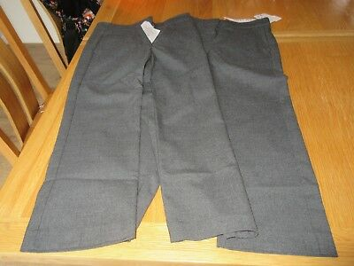 2 x Pairs Girls grey school trousers Top Class brand Age 4 Years long BNWT £23