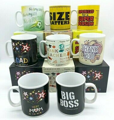 Size Matters Big Boss Supersized For Supperperson Jumbo Mug 900ml  Gift