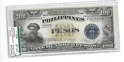 Very Scarce Nd 1944 Philippine 100 Peso Victory Note Pick #100 A $300- Ono