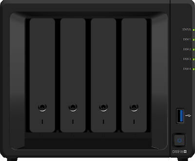 Synology K/DS918+ + 4X ST2000VN004 DiskStation DS918+ HDD HDD,SSD Serial