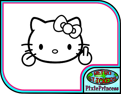 Hello Kitty Cartoon Set Of 4 Vinyl Sticker Decals 5/'/' longer side ID:2