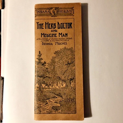 """1932 Indiana Herbs """"The Herb Doctor and Medicine Man"""" Catalog Booklet -Very Good"""