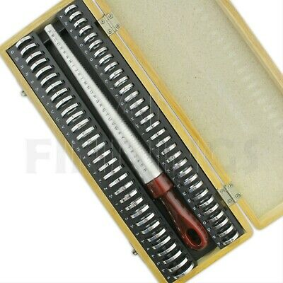 British A-Z+6 Finger Gauge Size & Ring Boxed Measure Jewellery Crafts Tool