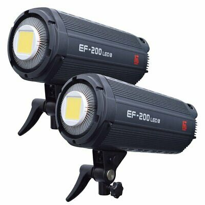 [2019 Ver] 2X Jinbei EF-200 5500K Studio Continuous Video LED Light Bowens Mount