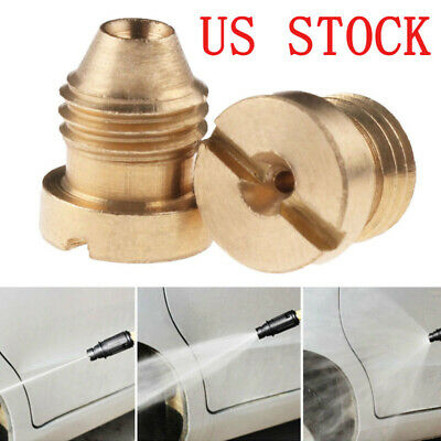 "0.04"" Orifice Thread Nozzle Tips for Snow Foam Cannon Lance Universal Brass NPT"