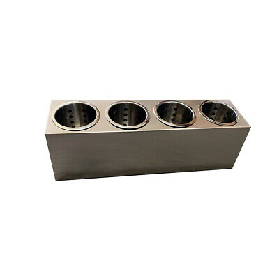 Cutlery HolderSingle Row 4 Holes with 4 Stainless Steel Basket Inserts Utensils