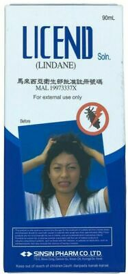 LICEND LINDANE SHAMPOO effective treatment of scabies and lice 90ml. AU POST