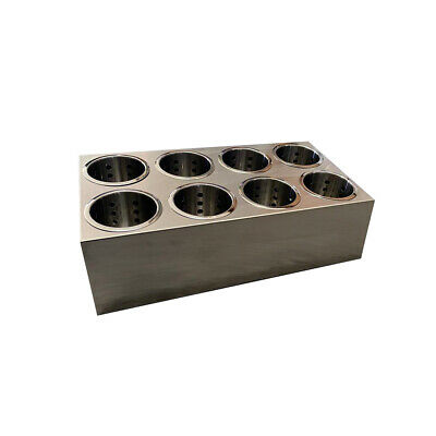 Cutlery Holder Double Row 8 Holes with 8 Stainless Steel Basket Inserts Utensils