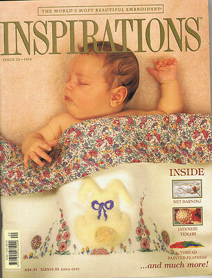 INSPIRATIONS MAGAZINE issue 20 1998 pattern attached BEAUTIFUL EMBROIDERY