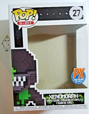 Funko Pop Alien XENOMORPH 8-BIT Px Previews EXCLUSIVE #27 EMPTY BOX