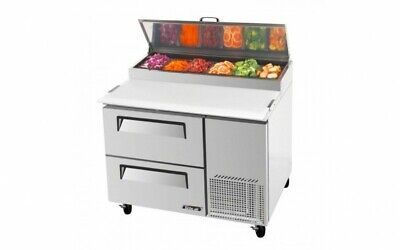 TURBO AIR 2 DRAWER PIZZA PREP FRIDGE with two drawers CTPR-44SD-D2 396L