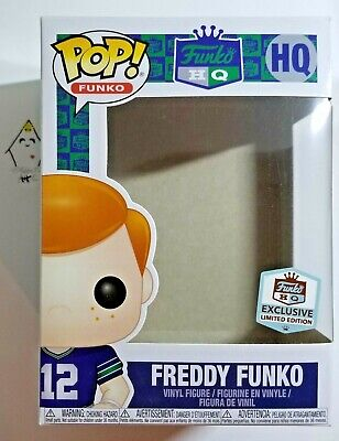 Funko Pop FREDDY HQ EXCLUSIVE #12th Man Seattle Seahawks NFL Football EMPTY BOX