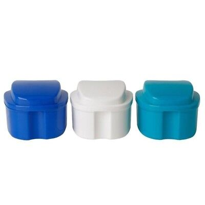 Box Case Denture Bath Cleaning Cup Dental Retainer False Teeth Box Home Supply