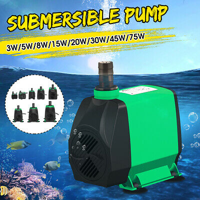420-5500L/H Electric Submersible Water Pump Aquarium Fish Pond Tank Fountain