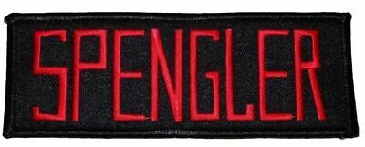 """Ghostbusters Movie Spengler Uniform Name Tag 5"""" Wide Embroidered Iron on Patch"""