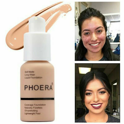 PHOERA Liquid Foundation Full Coverage Velvety Matte Lasting Make Up Conceale