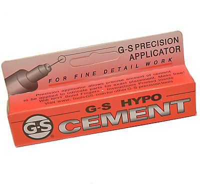G-S Hypo Cement Glue 9ml Jewellery Craft Adhesive Dries Clear Precision. 095