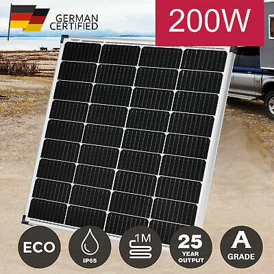 [15%OFF] 12V 250W Solar Panel Kit Mono Fixed Caravan Boat Charging Power Source