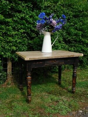 A Lovely Sized Antique Rustic Country Pine Side Table
