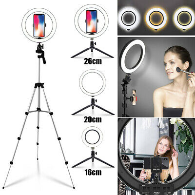 LED Selfie Ring Light Photography Studio Makeup Desktop Phone Camera With Stand