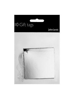 John Lewis & Partners Silver Foil Gift Tags Pack of 10 Free P&P UK Seller