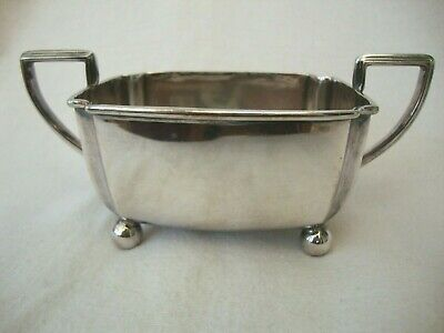 Antique Good Quality Viceroy Silver Plate Sugar Bowl Standing On Ball Feet 2527