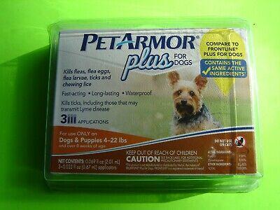 PetArmor Plus for Dogs, Flea and Tick Prevention for  Dogs 4-22 Lbs   3 month