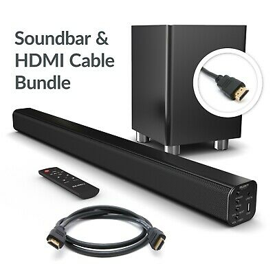 Majority 150W TV ARC Sound Bar Wireless Subwoofer with Bluetooth & HDMI Cable