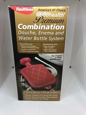 Faultless Premium Combination Douche Enema & Hot Cold Water Bottle - New in Box