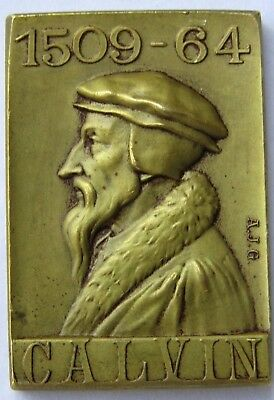 Rare Collectable Calvin Brass Plaque signed AJG