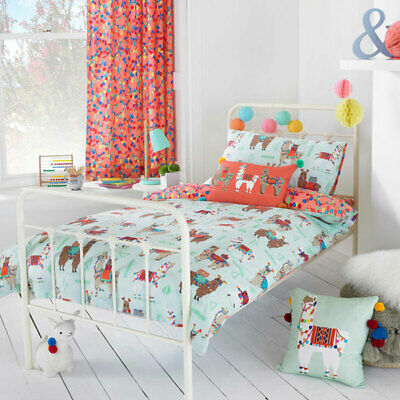 Little Big Cloud Llamarama Printed Reversible Duvet Cover Set, Multi
