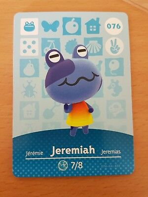 animal crossing new leaf welcome  amiibo card jeremiah 76