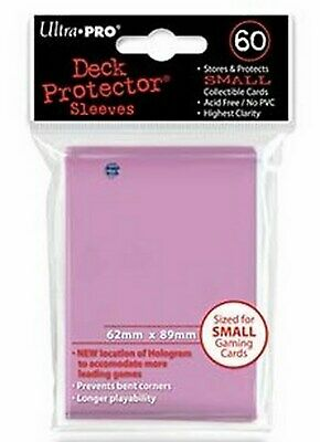 60 Deck Protector Sleeves Ultra Pro YuGiOh SMALL PINK Rosa Bustine Protettive