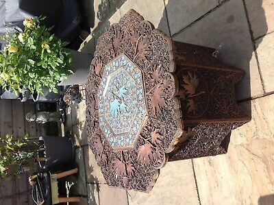 Intricately Carved Occasional Table