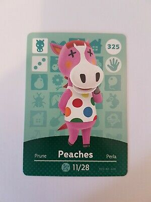 animal crossing new leaf welcome  amiibo card peaches 325