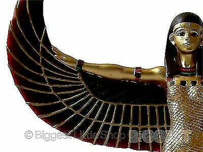 Large 23cms Golden Isis Wings Stretched Ancient Egypt Egyptian Collectable Gift