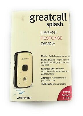 GreatCall Splash Waterproof One-Touch Medical Alert Device Silver It/543