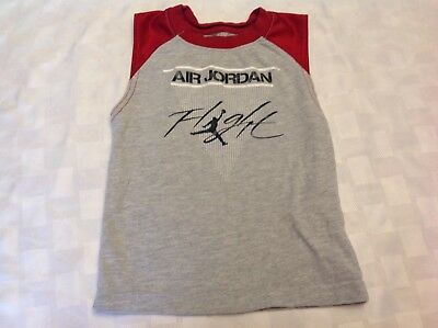 Air Jordan Flight Toddler 2T Basketball Athletic Tank Top  Red/Grey