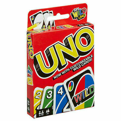 WILD CARDS 2019 version Mattel UNO Card Game Latest Version Family Great