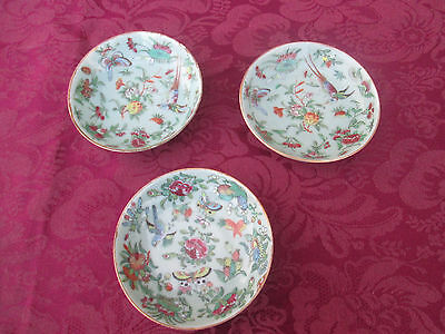 COL 01:   Set 3 Antique Chinese Export Bowl s  Plate s