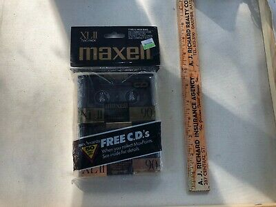 2 MAXELL XL II-S 90 XLII-S BLANK AUDIO CASSETTE TAPE New/Sealed Made In Japan