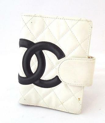 Authentic CHANEL Cambon Line Notebook Cover schedule book