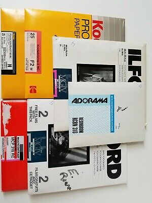 "Mixed lot of 8"" x 10"" B&W RC photo papers (1 is 5""x7""). 113 sheets total"