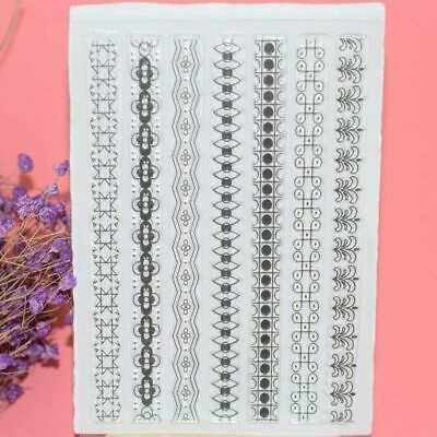 Sheet Decorative Transparent Stamp DIY Crafts Scrapbooking Silicone Rubber